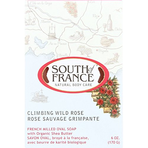 South of France Bar Soap - Climbing Wild Rose - Full Size - 6 oz - (Pack of 3) -