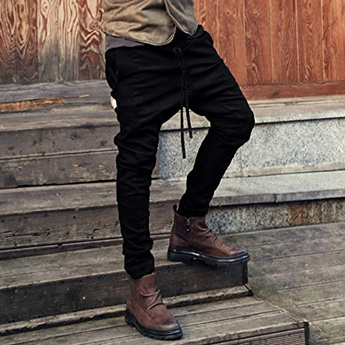 Spbamboo Mens Sweatpants Pockets Fashion Joggers Casual Drawstring Work Trousers by Spbamboo (Image #3)