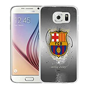 Fashionable And Unique Designed Case With Fc Barcelona 2 White For Samsung Galaxy S6 Phone Case