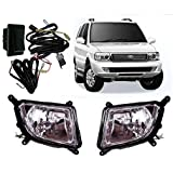 Auto Pearl Fog Light with Wiring Kit and Switch for Tata Safari Dicor (Set of 2)