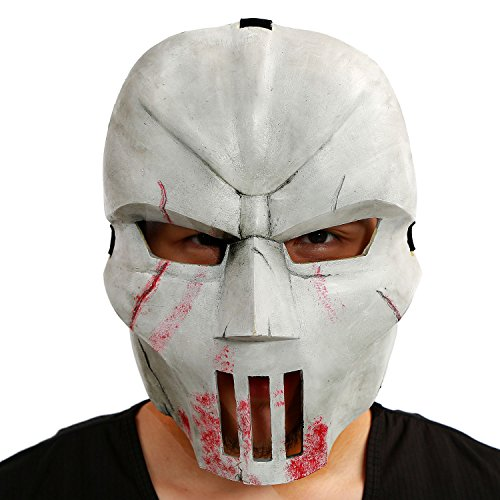 Casey Jones Mask Ninja Turtles Cosplay Mutant Helmet PVC Adult Halloween Prop (Hockey Mask Halloween Costume)