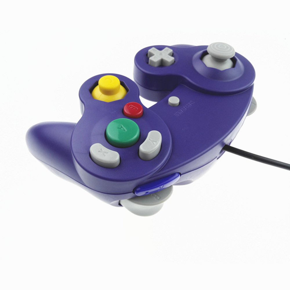 2 Gamecube Style USB Wired Controllers for Emulator PC and Mac