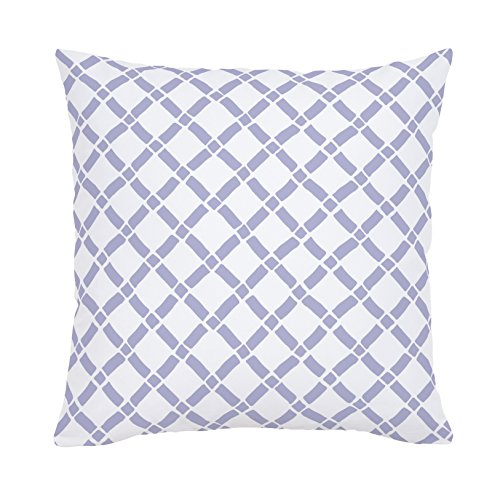 Carousel Designs Lavender Hand Drawn Lattice Throw Pillow 20-Inch Square Size