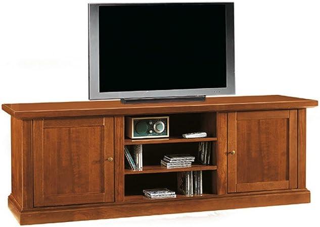 InHouse srls Mueble TV, Estilo Clasico, en Madera Maciza y MDF con Acabado Nogal Pulido - Medidas 46 x 160 x 56 …: Amazon.es: Hogar