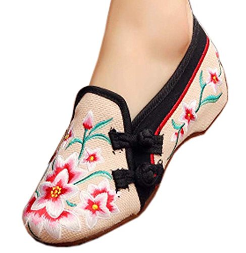 Vintage Design Chinese Shoes Embroidered Flats Cheongsam Shoes, 01 from George Jimmy