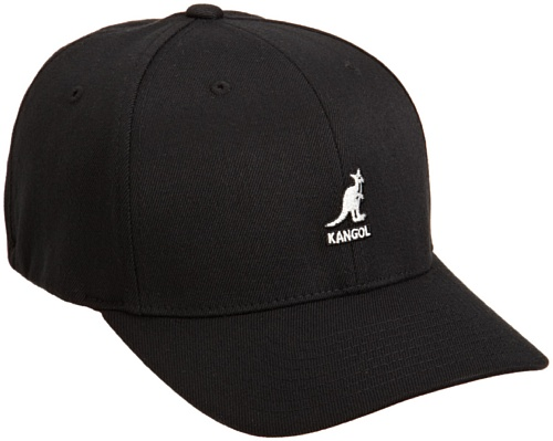 Kangol Men's Wool Flexfit Baseball Hat, Black, (Kangol Black Hat)