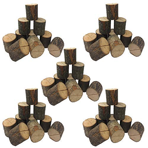 Wedding Place Wooden Card Holders Table Number Stands for Home Party Decorations. Pack of 50