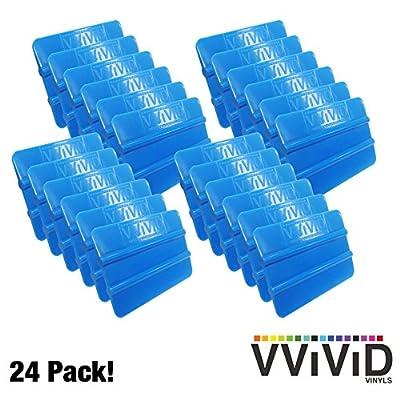 VViViD Blue Handheld Vinyl Wrap Applicator Squeegee (24 Pack): Automotive