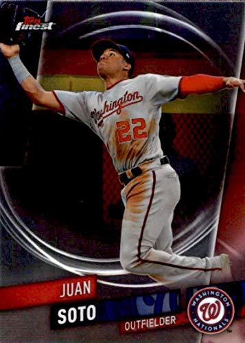 2019 Finest Baseball #67 Juan Soto Washington Nationals Official MLB Trading Card From Topps (Card Washington Mlb Nationals)
