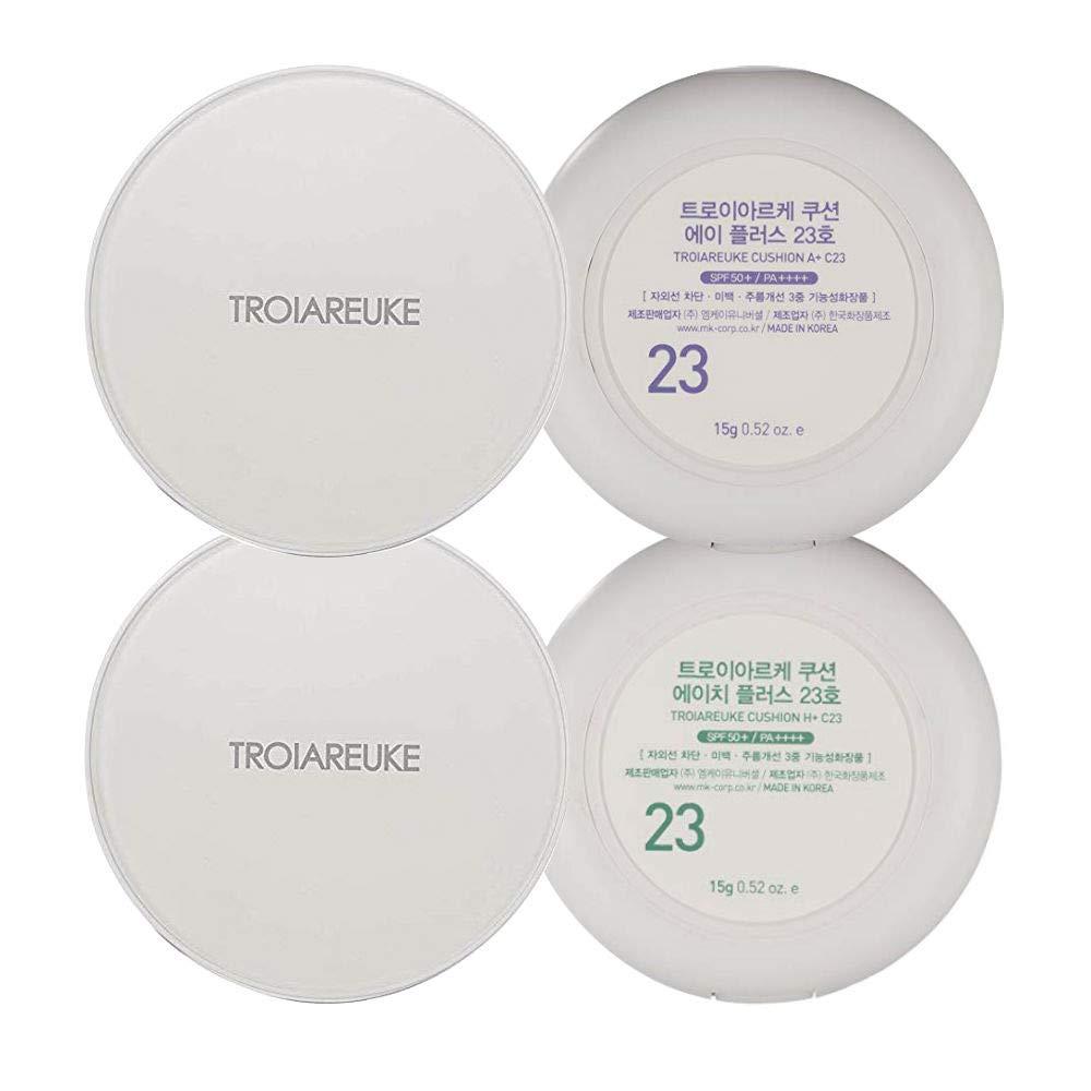 Troiareuke A H Cushion Set 23 Korean Cushion Foundation Makeup For Acne Prone