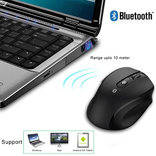 JETech M0884 Bluetooth Wireless Mouse for PC, Mac, and Android OS Tablet with 6-month battery life by JETech (Image #2)
