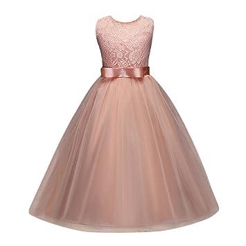 Woaills 5-12T Princess Dress,Hot Sale Kids Girl Flower Formal Pageant Holiday Wedding
