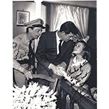 """DON KNOTTS as BARNEY FIFE and SUE ANE LANGDON as KATE TASSEL on """"THE ANDY GRIFFITH SHOW"""" Signed 8x10 B/W Photo"""