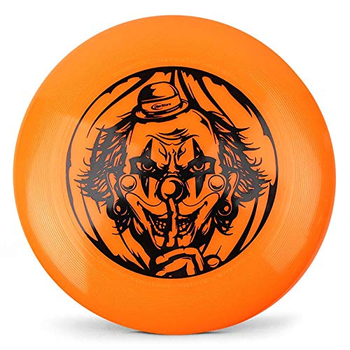 Scary Clown Halloween Discraft Ultra-Star 175g Ultimate Disc (USA Ultimate Approved) - Orange by Disc Store