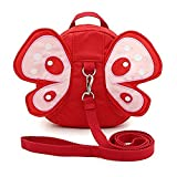 3D Toddler Baby Kid Walking Safety Harness Leash Backpack Travel Strap Anti Lost Bag (Butterfly Red)