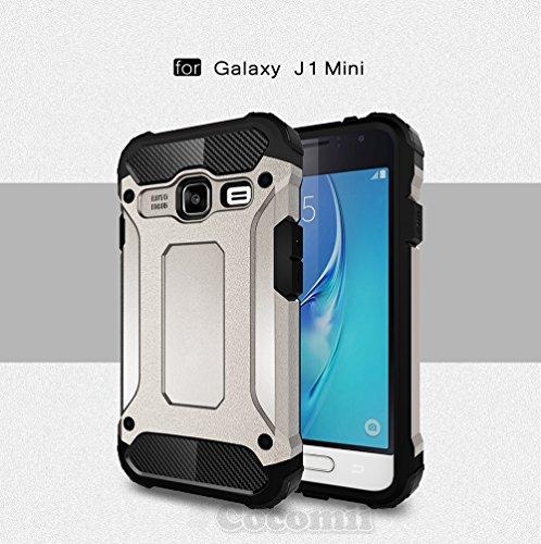 Slim Shockproof Case for Samsung Galaxy J1 (Grey) - 3
