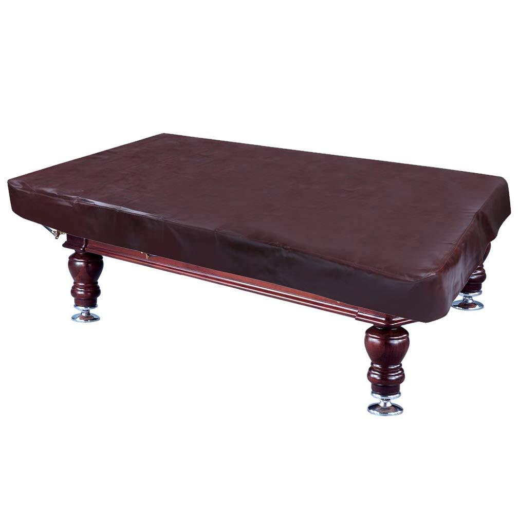 Billiards Table Cover 8 Foot, Brown Heavy Duty Leatherette Pool Table Cover, Waterproof, Rainproof