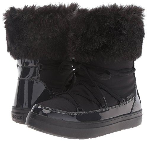 Black Black Black Nero Non Polpaccio a Imbottiti Boot Donna Crocs metà metà metà metà LodgePoint Lace Stivali xTnvPZqUOw