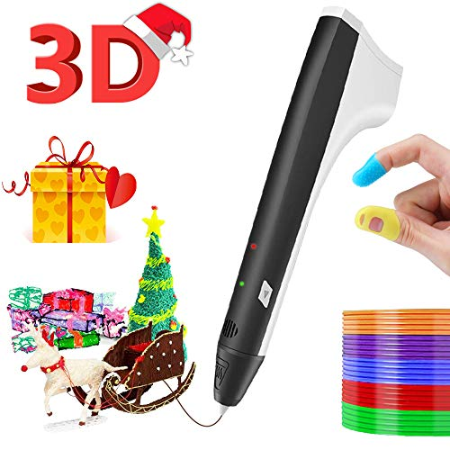 3D Pen for Kids, SUNLU 3D Printing Pen, 3D Printer Art Pen, STEM Toy for Boys & Girls Gifts, Safe and Easy to Use 3D Writing Pens for Kids and Adults Black