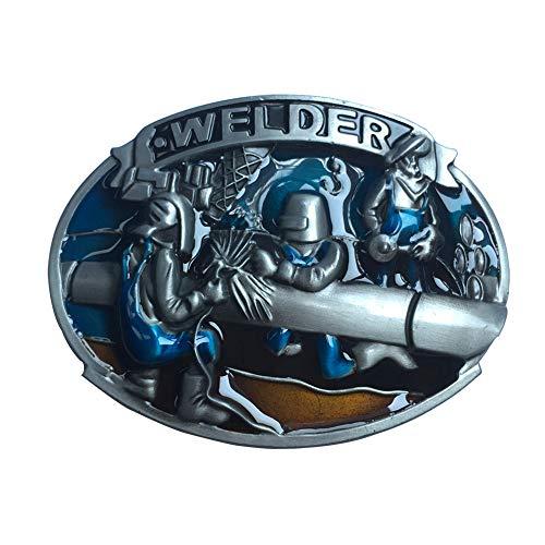 (Native American Vintage Pewter Welder Belt Buckle for Men Gifts for Welder)