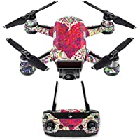 Skin for DJI Spark Mini Drone Combo - Stained Heart| MightySkins Protective, Durable, and Unique Vinyl Decal wrap cover | Easy To Apply, Remove, and Change Styles | Made in the USA
