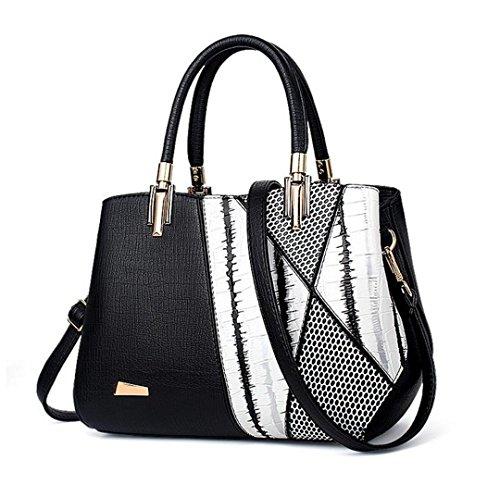 célèbre Sacs à femme mode de Sacs femme de luxe cuir en Design bandoulière Black serpentine à main U6xrnUw
