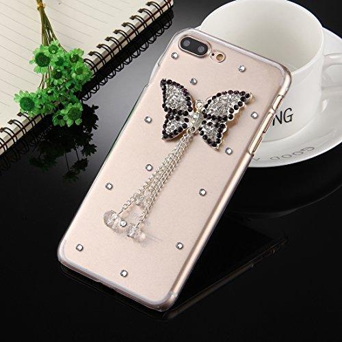 MXNET Iphone 7 Plus Fall, Diamant verkrustete Tanzen-Mädchen-Muster-schützende rückseitige Abdeckungs-Fall CASE FÜR IPHONE 7 PLUS ( SKU : Ip7p2980b )