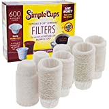 Disposable Filters for Use in Keurig Brewers- 600 Replacement Filters for Regular and Reusable K Cups- Use Your Own Coffee in K-cups