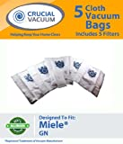 5 Miele GN Deluxe Allergen High Filtration Vacuum Bags + 2 Filters for Miele Vacuum Cleaners; Designed and Engineered by Crucial Vacuum, Appliances for Home