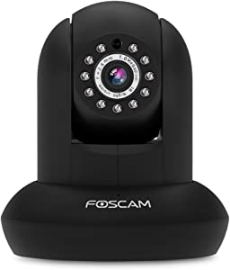 Foscam FI9821P HD 720P WiFi Security IP Camera with iOS/Android App, Pan, Tilt, Zoom, Two-Way Audio, Night Vision up to 26ft, and More (Black)