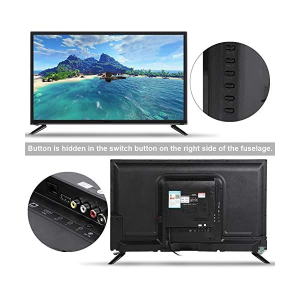 43-Inch HD HDR LCD TV, 1080P Digital Television, Voice Searching Function, Supports USB/HDMI/RF Antenna Input/Headphone… 3