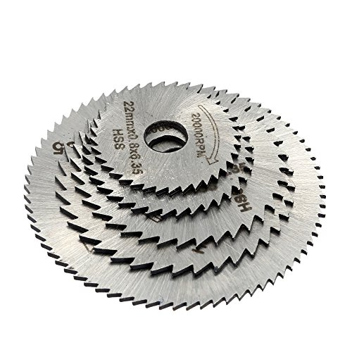 5pcs HSS Rotary Blades Cutting Discs Mandrel Cut-off Circular (Pto Slip Clutch)