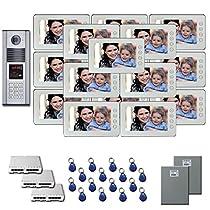 Multi Tenant Video Entry 16 7 door camera monitor key for kit