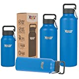 Healthy Best Deals - Healthy Human 16 oz Water Bottle Keeps Liquids Cold 12 Hours, Hot 6 Hours. 100% Leak & Sweat Proof. Vacuum Insulated Stainless Steel Thermos Flask. Includes Carabiner & Hydro Guide. Bahama