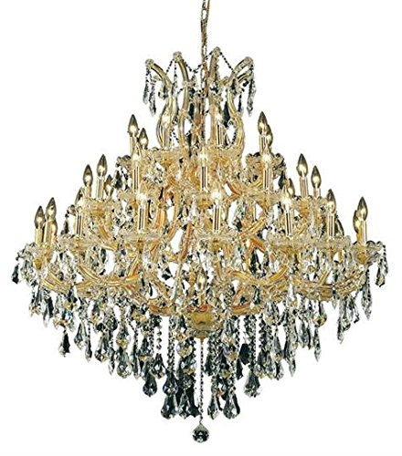 Karla Gold Traditional 37-Light Grand Chandelier Heirloom Handcut Crystal in Crystal (Clear)-2381G44G-RC--18