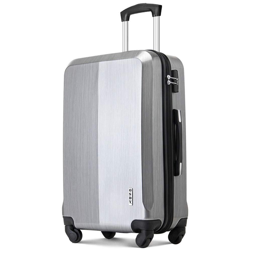 FRF トロリーケース- 学生シンプルなパスワードボックススーツケース、ユニバーサルホイールトロリーケース搭乗男性と女性 (色 : シルバー しるば゜, サイズ さいず : 26in) B07QT7D83X シルバー しるば゜ 26in