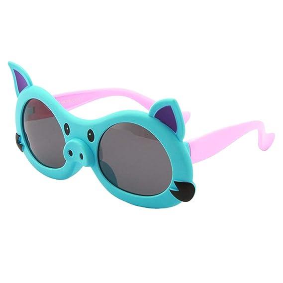 qiansu Moda Niños Gafas de sol Niños en Niños Gilrs Verano ...