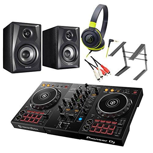 Pioneer DDJ-400 デジタルDJ初心者フルセット(ブラックグリーン) [本体+rekordbox DJ+ヘッドホン+スピーカー+PCスタンド]【テクノハウスにオススメ】 パイオニアB01CUE37C6ヘッドホン(BGR)+スピーカー+PCスタンドヘッドホン(BGR)+スピーカー+PCスタンド-