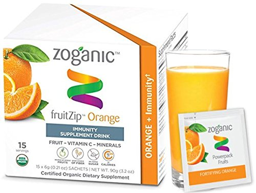 Acerola Chew (Organic Herbal Supplement Drink Mix - Immune support Antioxidant Vitamin C and Echinacea, Pure Fruit Extract, Orange Flavor-15 Packets)