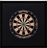 Viper Wood Framed Dartboard Backboard, Dark Mahogany Finish