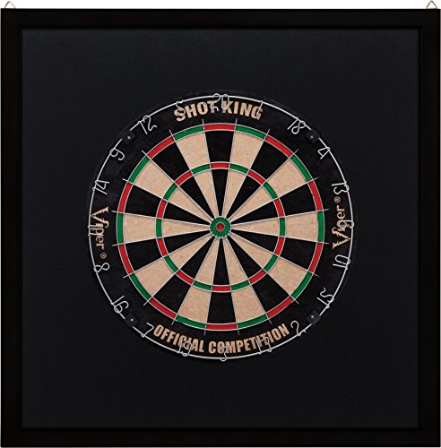 Dart Stop (Viper Wood Framed Dartboard Backboard, Dark Mahogany Finish)