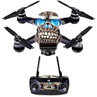 Skin for DJI Spark Mini Drone Combo - Psycho Skull| MightySkins Protective, Durable, and Unique Vinyl Decal wrap cover | Easy To Apply, Remove, and Change Styles | Made in the USA