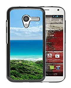 New Beautiful Custom Designed Cover Case For Motorola Moto X With Pure Beautiful Seaside Hill Ladnscape Phone Case
