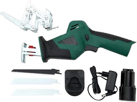 Set de sierras de jardín, JanTeel 10.8V sierra manual para el hogar, Motosierra de poda eléctrica recíproca con 3 hojas de repuesto y estuche de transporte (verde): Amazon.es: Bricolaje y herramientas