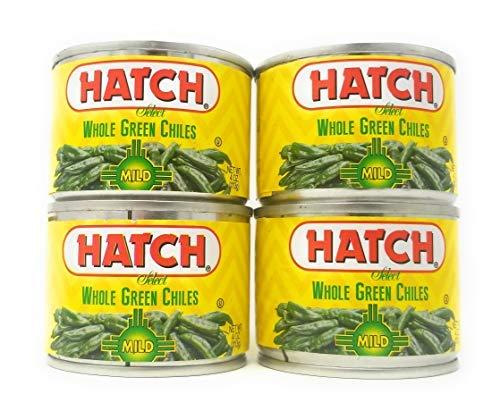 Hatch Select Whole Green Chiles Mild Heat 4oz QTY 4