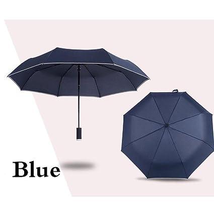DAHAI FU 1pc Led Light Rain Mujeres parasol paraguas UV Hombres con linterna Torre Eiffel parasol