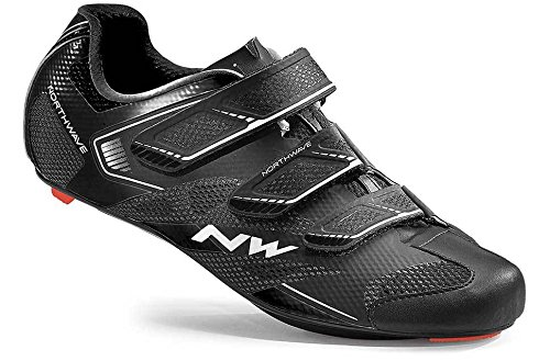 Northwave 2016 Sonic 2 Road Cycling Shoes - 80161015-10 (Black - 44.5) by Northwave