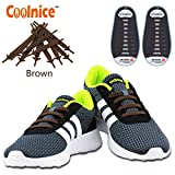 Coolnice No Tie Shoelaces for Adults and Kids DIY 20pcs - Environmentally safe Waterproof Silicon