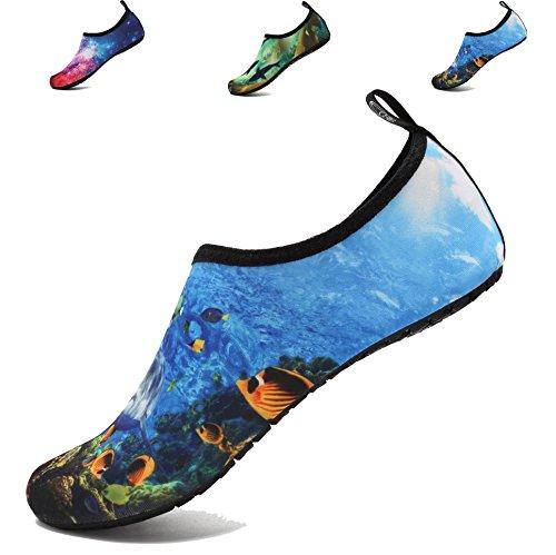 für Socken World üben Damen Schwimmen Strand Aqua Wasser adituob Sea Barfuß Herren Sportschuhe Pool qWv8IOWSzw