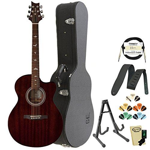 PRS 6 String Acoustic-Electric Guitar, Right, TXE20ENA, w/Hard Case & Accessories (TXE20ENA-KIT-1)